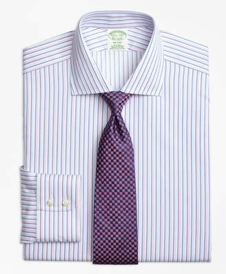 Brooks Brothers Milano Slim-Fit Dress Shirt, Non-Iron Alternating Twin Stripe