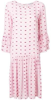 Vivetta Clouds & Lips babydoll dress
