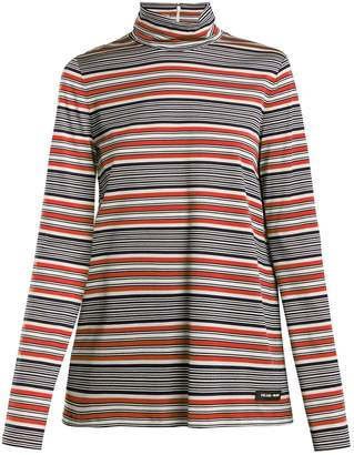 Prada Baiade striped cotton top