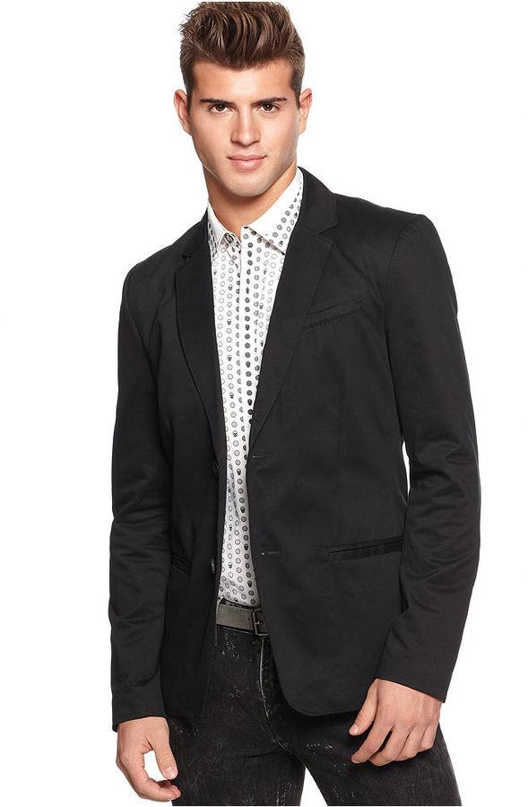 GUESS Jacket, Resort Sateen Blazer