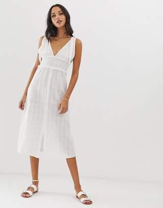 Fashion Union River beach dress in white