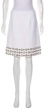 Michael Kors Embellished Knee-Length Skirt