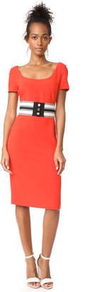 Diane von Furstenberg Scoop Neck Belted Dress