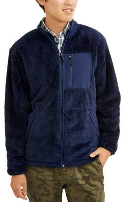 George Men's High Pile Fleece Zip Up Jacket, up to size 5XL