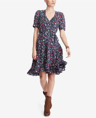 Denim & Supply Ralph Lauren Floral-Print Cotton Wrap Dress $125 thestylecure.com