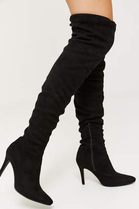 Ardene Knee High Microsuede Stiletto Boots