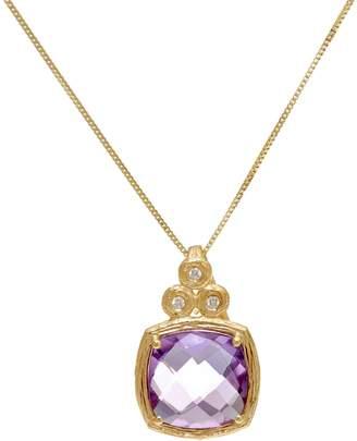 ADI Paz Cushion Cut Gemstone & Diamond Necklace, 14K