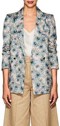 Blazé Milano Women's Everyday Floral Silk Blazer Size 38 Fr