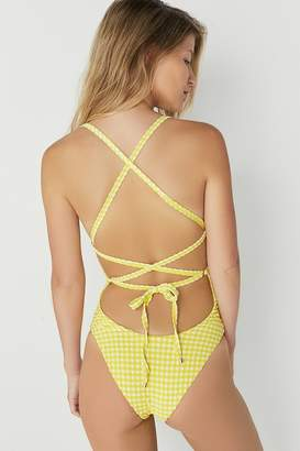 Blue Life Zippered-Up One-Piece Swimsuit