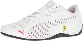 Puma Men's SF Drift Cat 5 Ultra Walking Shoe, White-Rosso Corsa Black, 9 M US