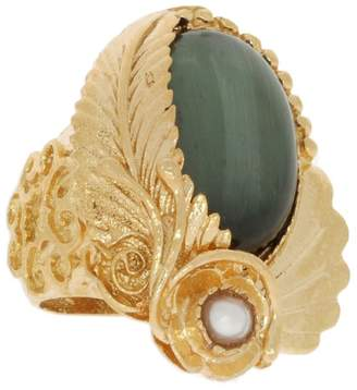 Cat Eye Ottoman Hands - Tyrell and Pearl Rose Cocktail Ring