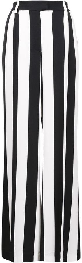MSGM striped wide-legged trousers