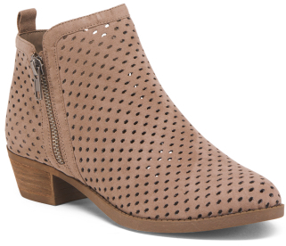 Perforated Ankle Booties $29.99 thestylecure.com