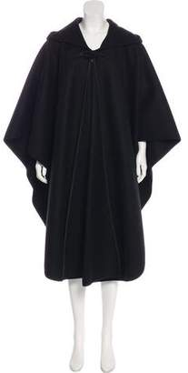 Saint Laurent Oversize Hooded Wool Cape w/ Tags