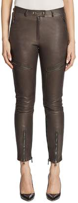 Moschino Women's Leather Cargo Pants