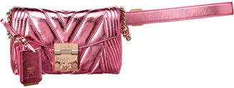 MCM Patricia Metallic Quilted Small Leather Belt Bag