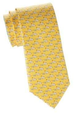 Salvatore Ferragamo Elephant& Mouse Silk Tie