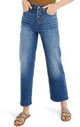 Madewell High Waist Button Fly Slim Wide Leg Jeans