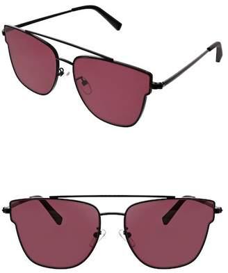 KENDALL + KYLIE Kendall & Kylie Women's Bree Flat Lens Butterfly Aviator Sunglasses