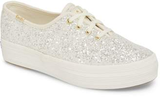 Kate Spade Keds(R) for triple decker glitter sneaker
