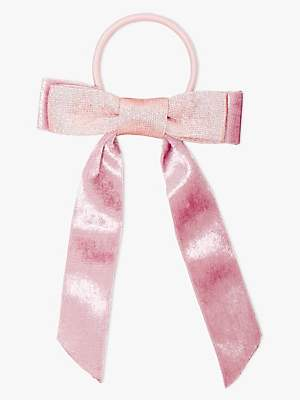 John Lewis & Partners Heirloom Collection Heirloom Collection Children's Ribbon Bow Hair Pony, Pink
