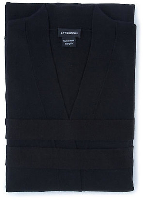 One Kings Lane Cashmere-Blend Robe - Black