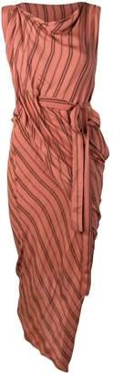 Vivienne Westwood striped asymmetric dress