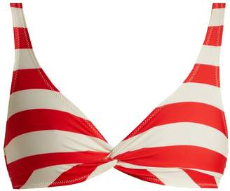 The Jane striped bikini top