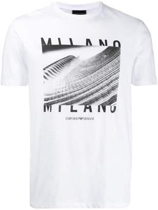 Emporio Armani graphic print T-shirt