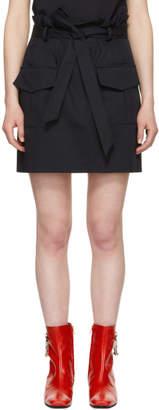 Harmony Navy Jacynthe Paperbag Waist Miniskirt
