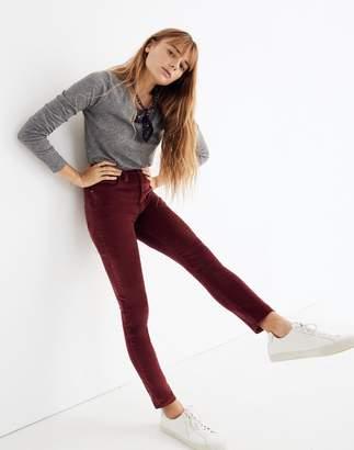 "Madewell Petite 10"" High-Rise Skinny Jeans: Stretch Velvet Edition"