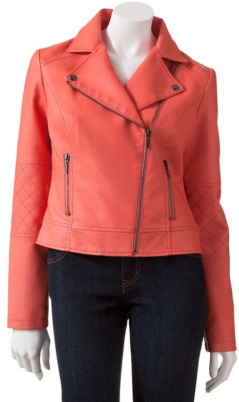 Candie's quilted faux-leather moto jacket - juniors