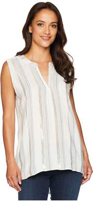 True Grit Dylan by Shimmer Stripe High-Low Sleeveless Tunic Women's Sleeveless