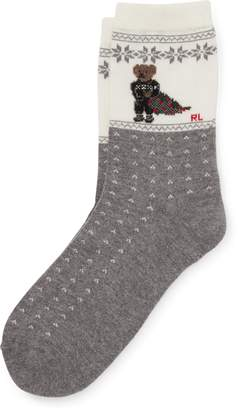 Ralph Lauren Holiday Polo Bear Boot Socks
