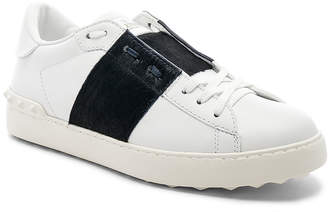 Valentino Leather Sneakers With Calf Hair