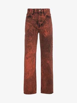 Balenciaga acid wash cotton jeans