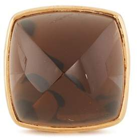 Pain De Sucre Fred 'Pain de Sucre' smoked quartz 18k rose gold pyramid large charm