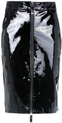 Tufi Duek patent leather skirt