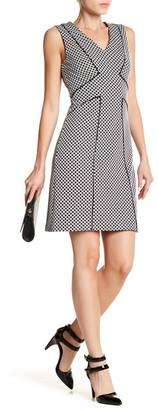 Adrianna Papell Dotted Knit Jacquard Sheath Dress (Regular, Petite, & Plus Size) $120 thestylecure.com