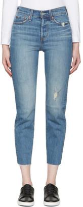 Levi's Blue Wedgie Fit Jeans $105 thestylecure.com