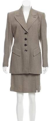 Rena Lange Two-Piece Wool Skirt Suit