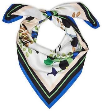 Reiss Sierra Petal Printed Silk Scarf