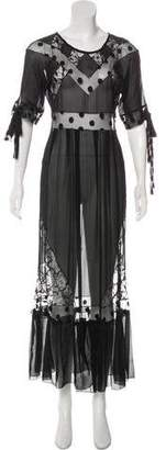 Sonia Rykiel Chiffon Embroidered Dress