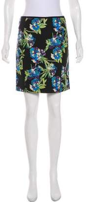 Elizabeth and James Floral Print Mini Skirt