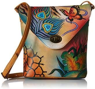 Anuschka Handpainted Leather 8059-PKC V Shape Flap Bag