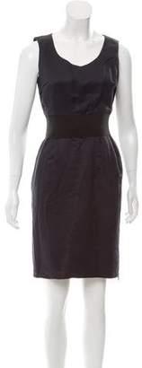 Lanvin Sleeveless Contrast-Trimmed Dress
