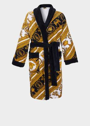 Versace Home I Baroque Terry Cloth Bathrobe