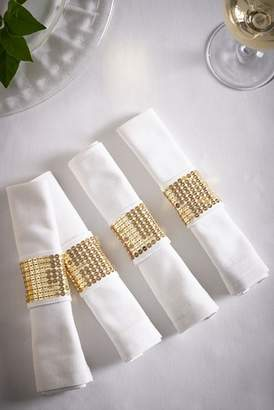 Next Set of 4 Napkins With Gold Cuff