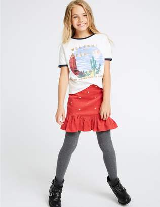 Marks and Spencer Heart Cord Skirt (3-16 Years)
