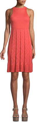 M Missoni Textured-Knit Sleeveless Dress